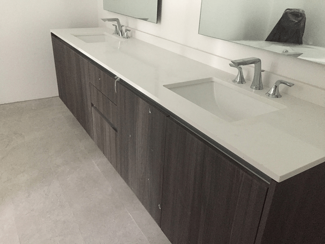 Aria on the Bay Master Bath Vanity
