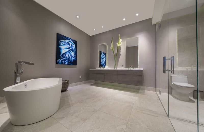 Aria on the Bay Master Bathroom Rendering