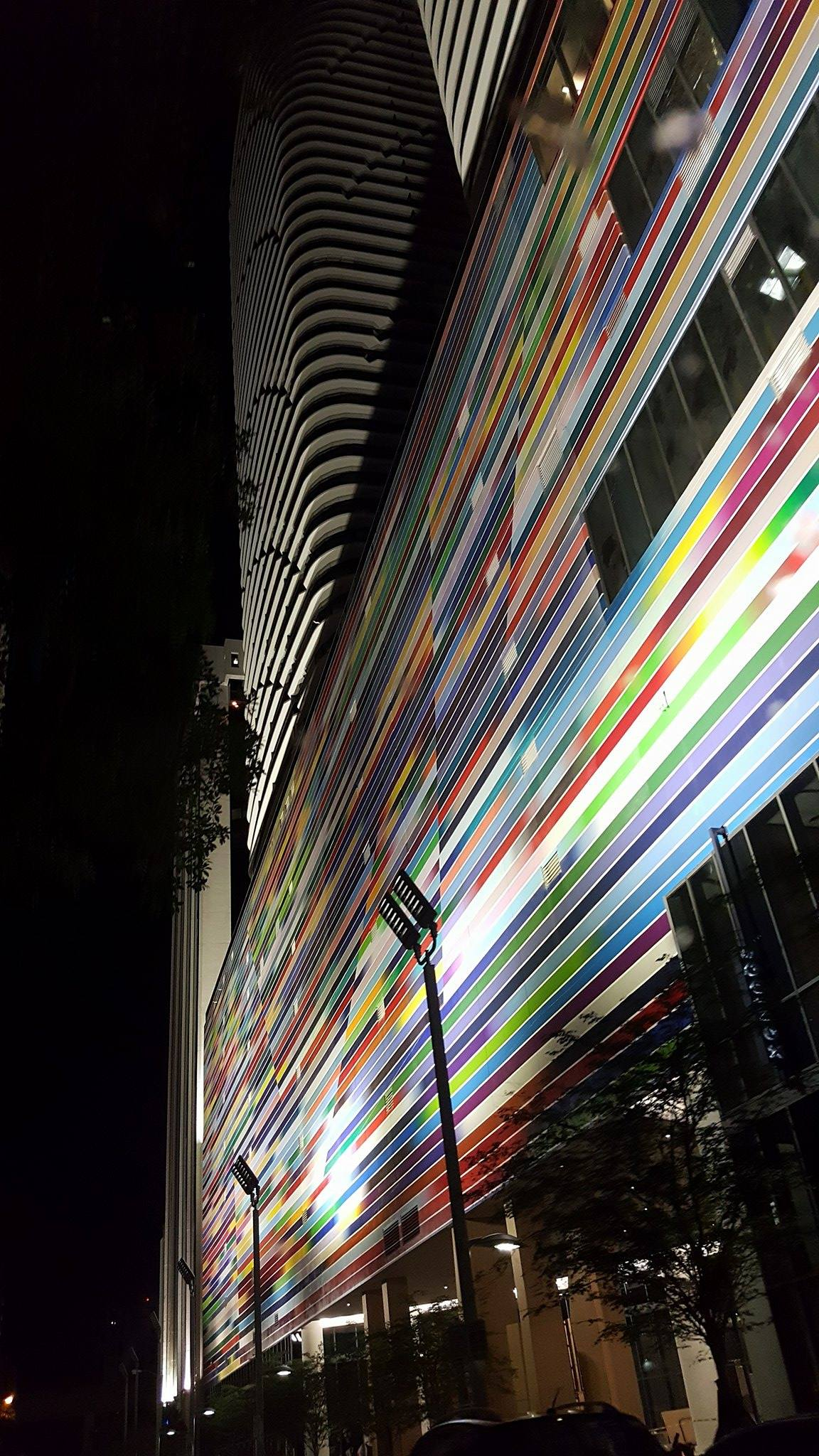 Brickell Heights Streetscape - Mural Lighting