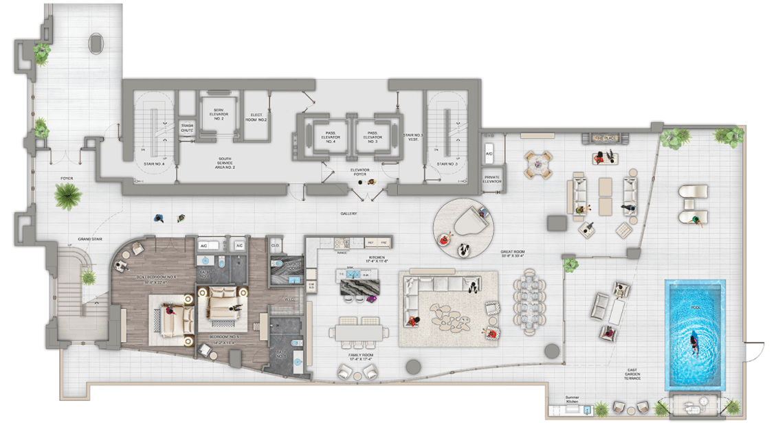 Estates at Acqualina Casa D Oro Floor Plan 01