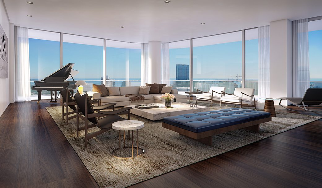 SLS Lux Penthouse Living Room City View