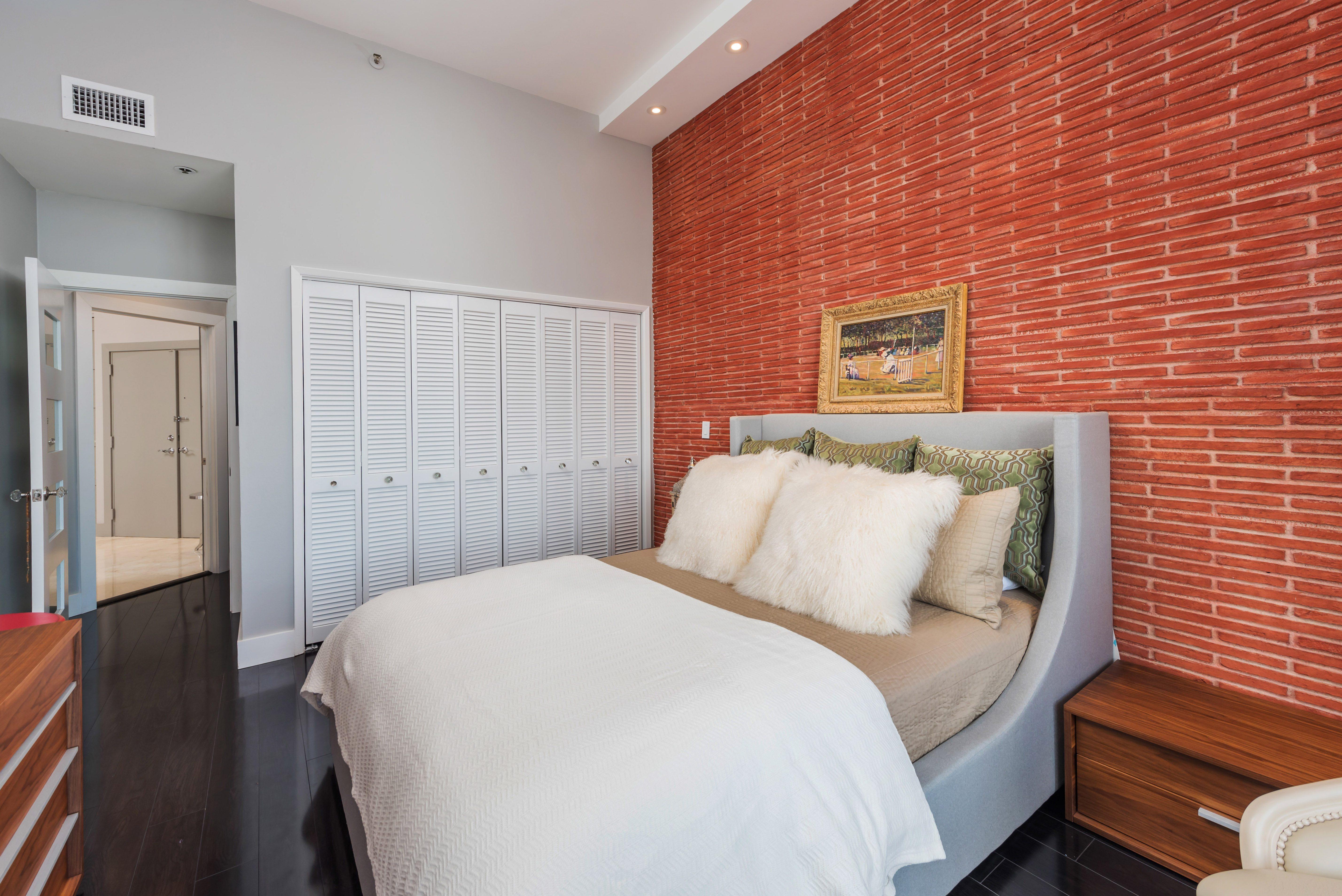 second bedroom at Villa Regina condos