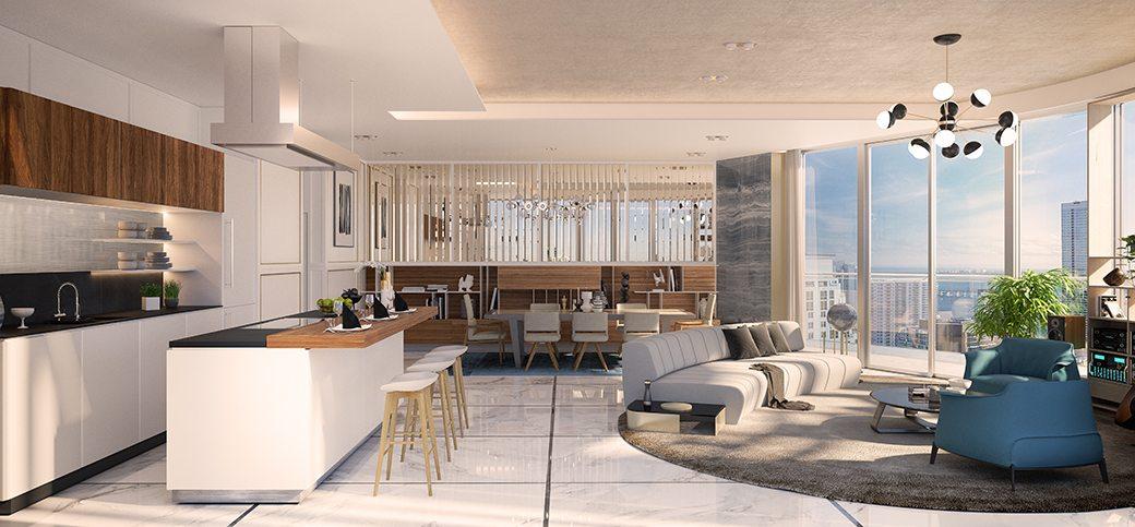Brickell Flatiron lower penthouse