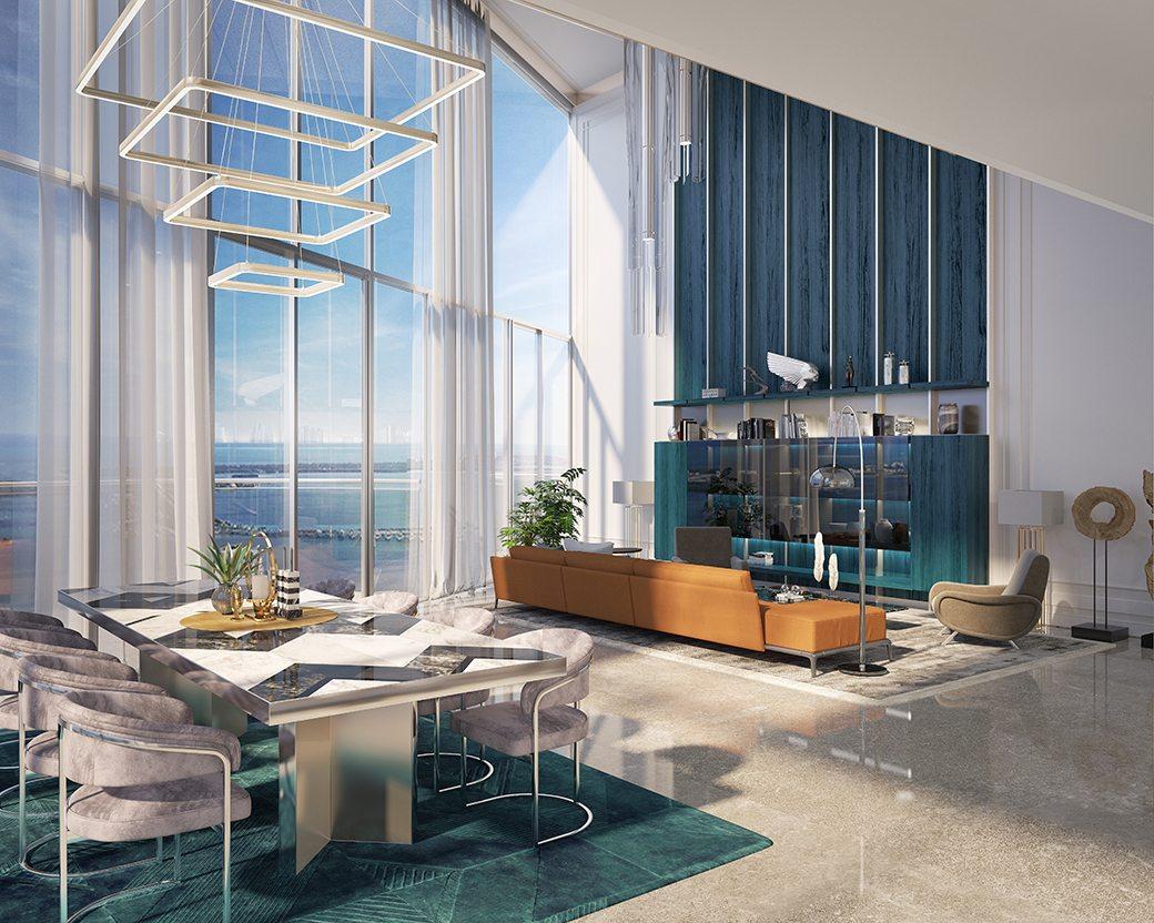 2-story penthouse Brickell Flatiron
