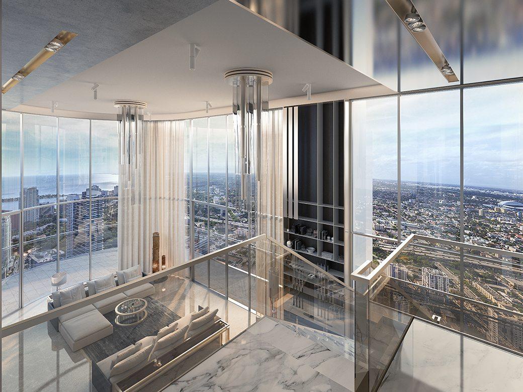upper penthouse at Brickell Flatiron
