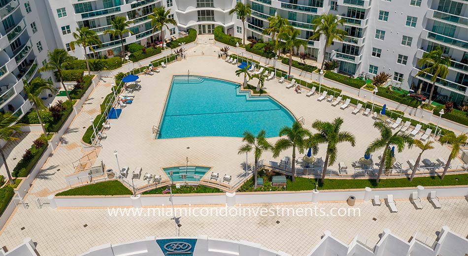360 Condo swimming pool
