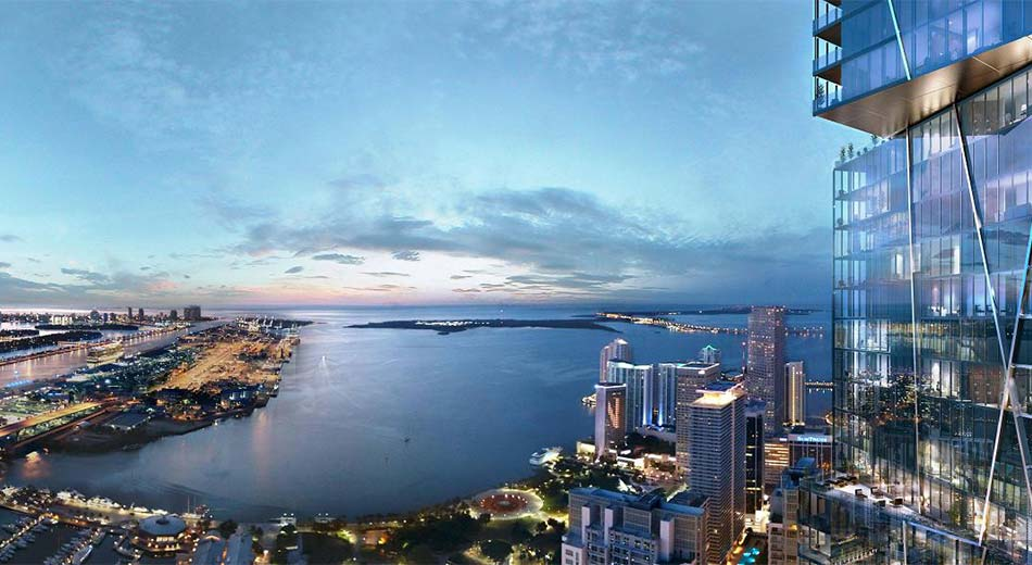 views from 300 Biscayne condos