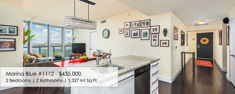 MarinaBlue 2 bed condo for sale