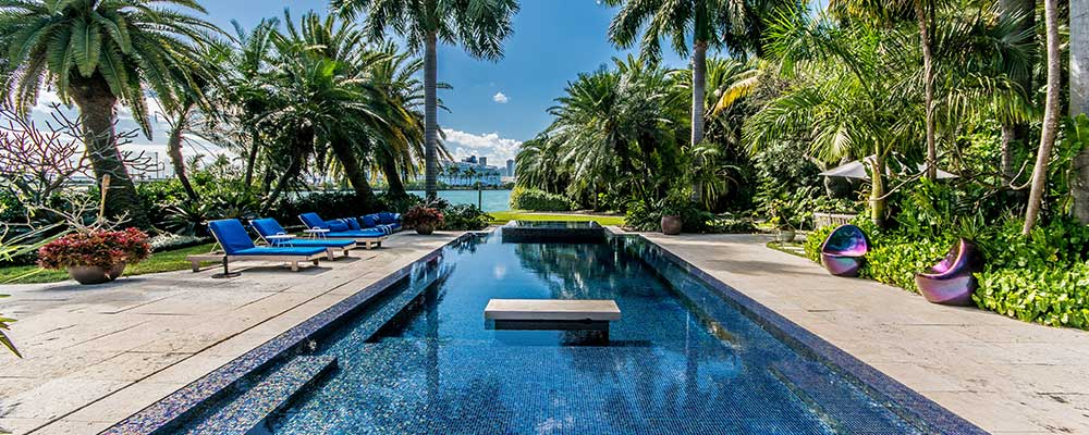 Miami Beach luxury homes at 16 Palm Island