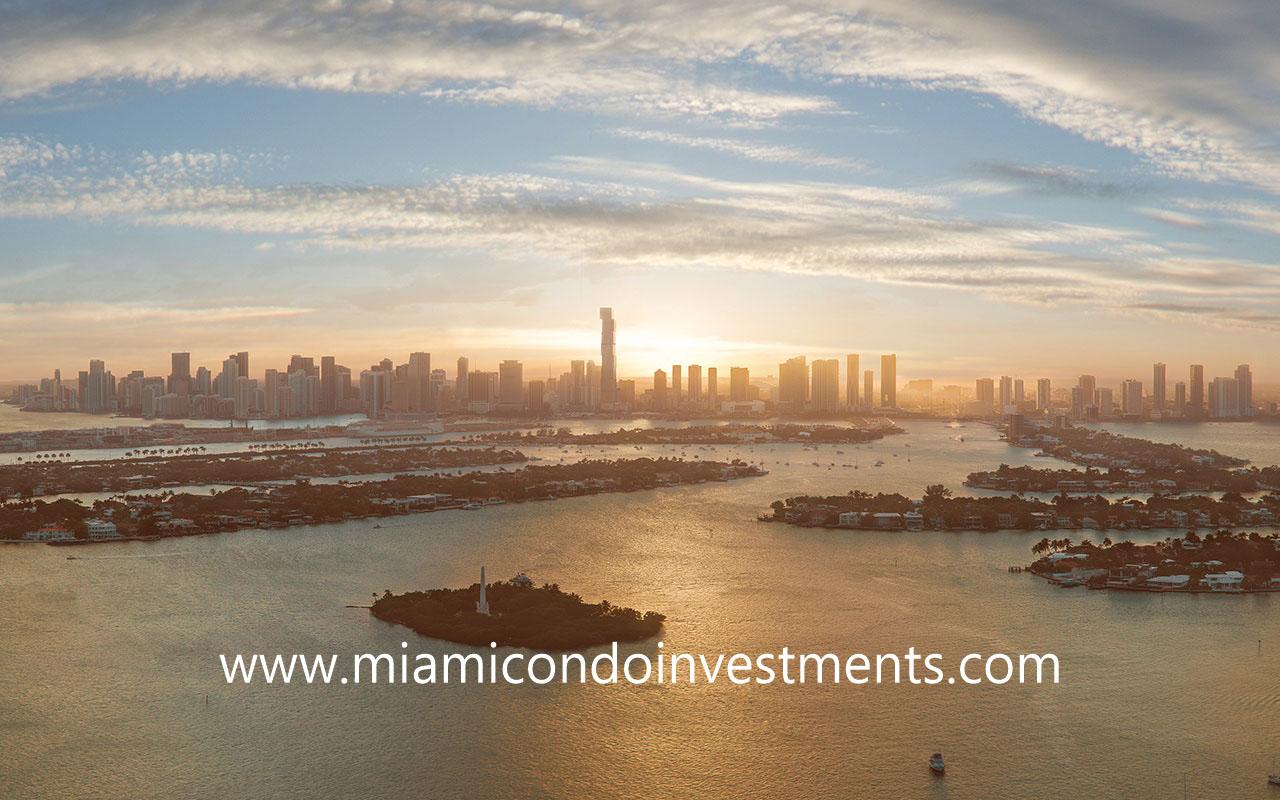 Waldorf Astoria Miami skyline view