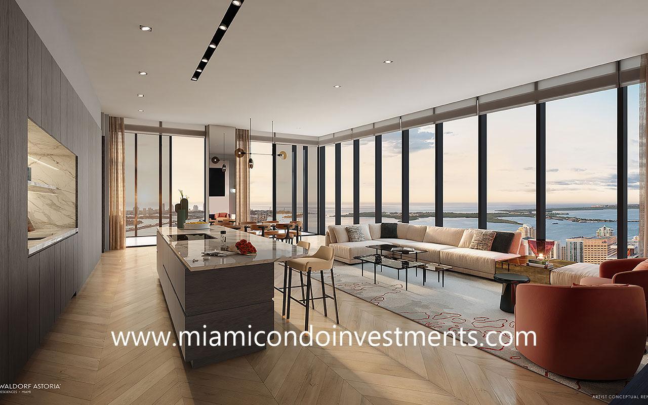 Waldorf Astoria Miami living room