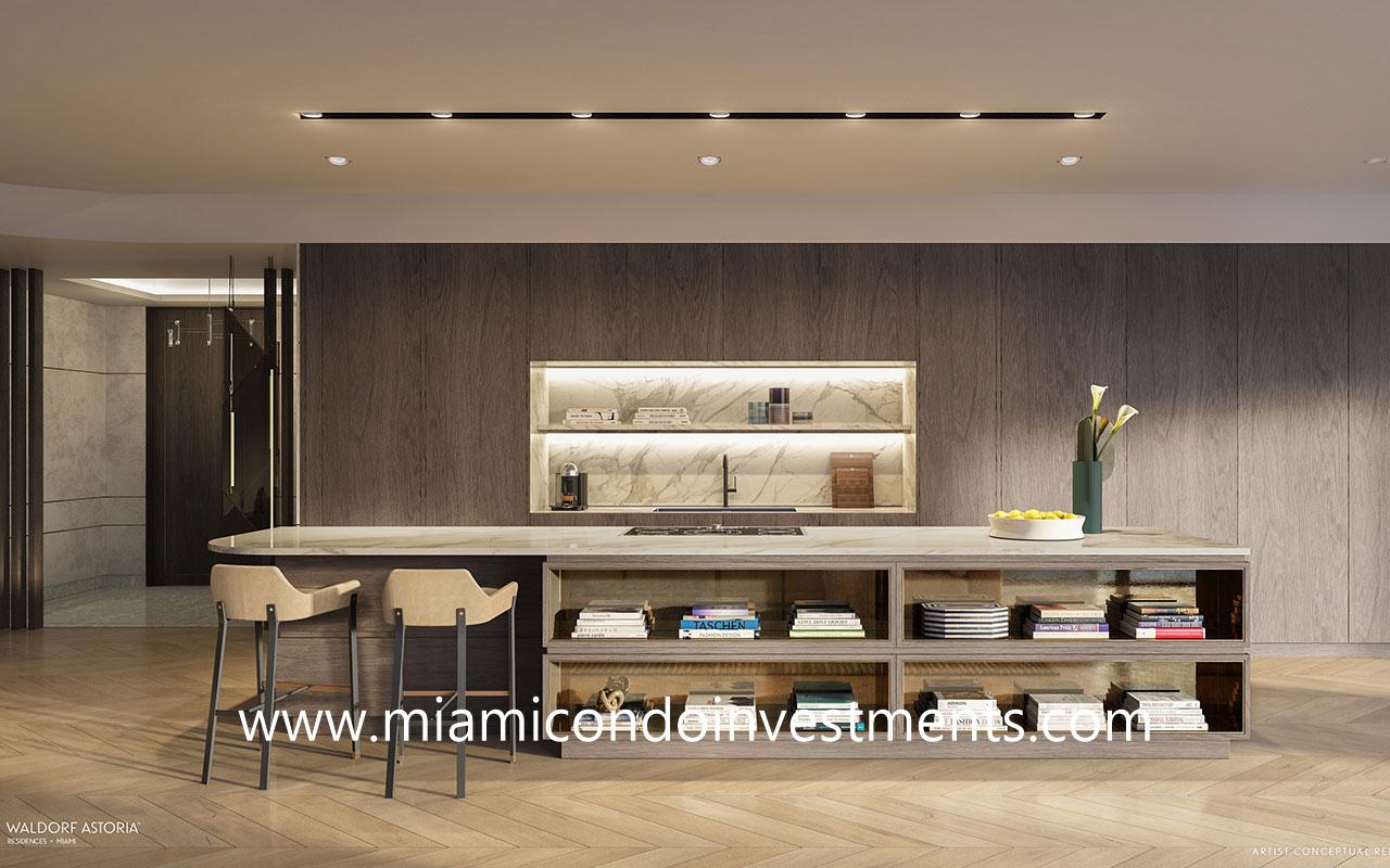 Waldorf Astoria Miami kitchen