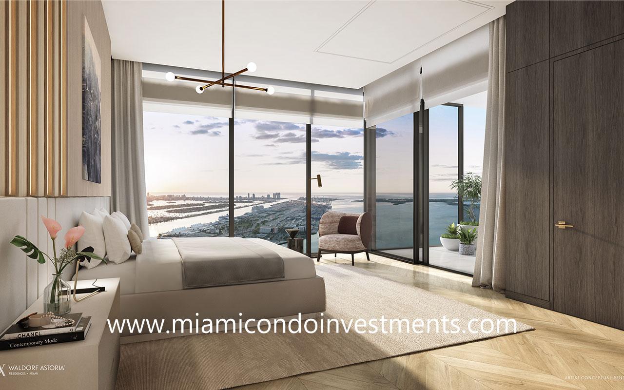 Waldorf Astoria Miami master bedroom