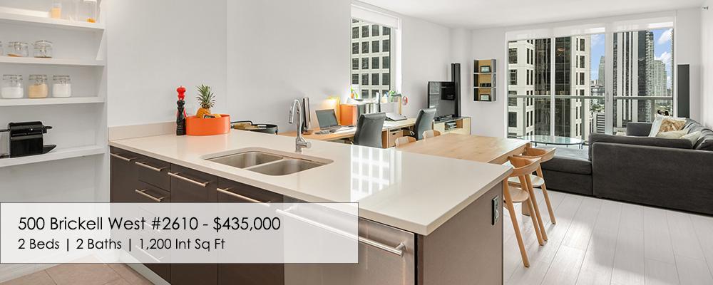 500 Brickell 2 Bedroom Condo For Sale