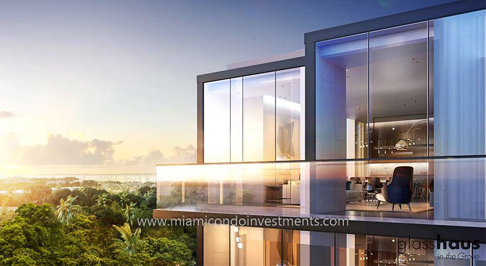 Glasshaus condo with high ceilings