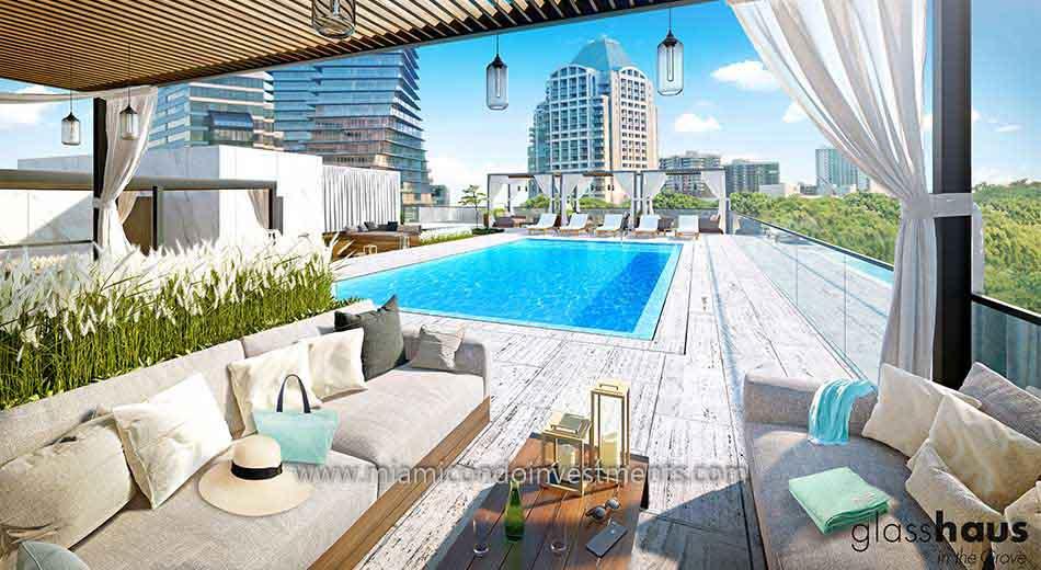 Glasshaus rooftop pool