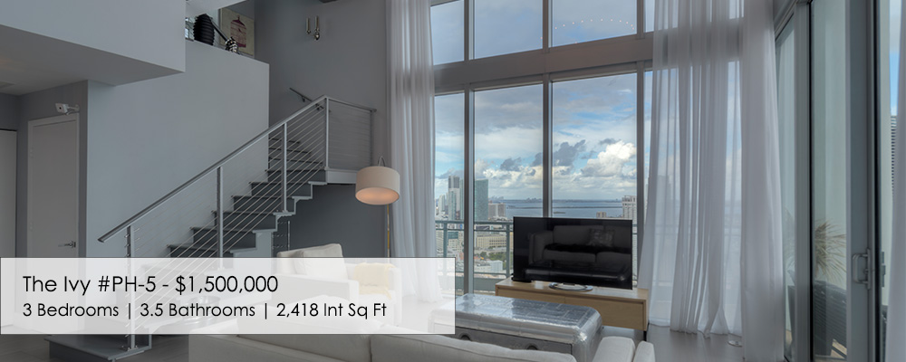 tri-level penthouse at The Ivy Miami