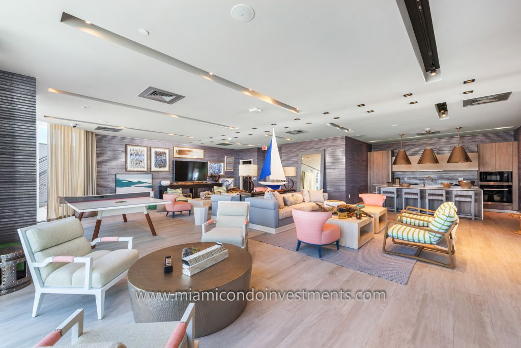 club room at Biscayne Beach condos