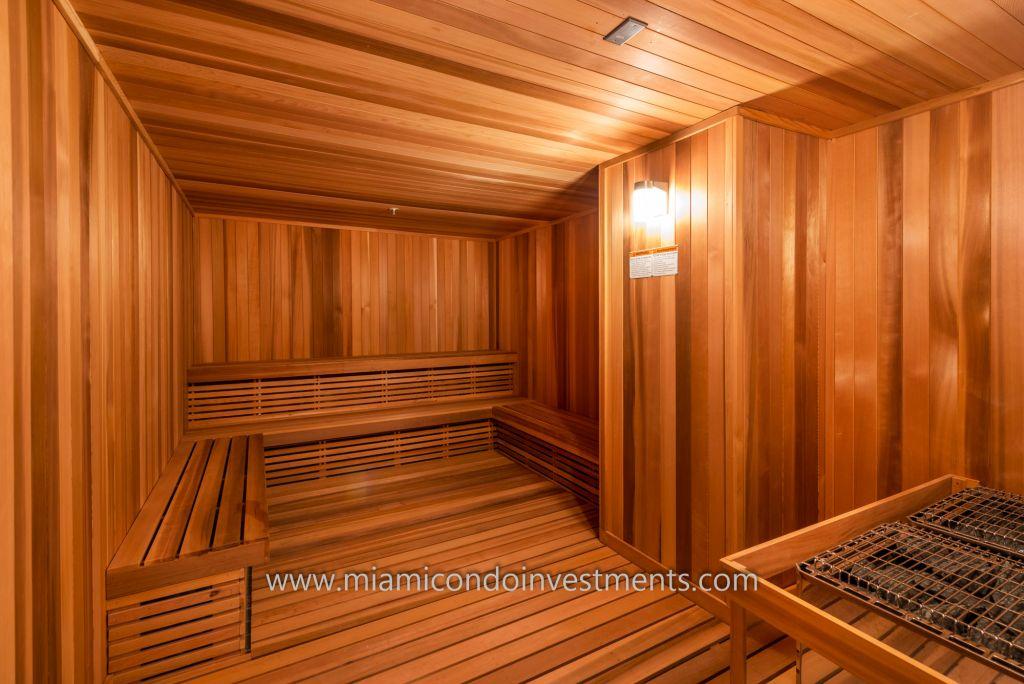 co-ed sauna at Biscayne Beach
