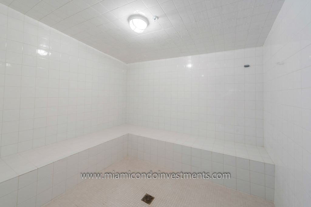 co-ed steam room at Biscayne Beach