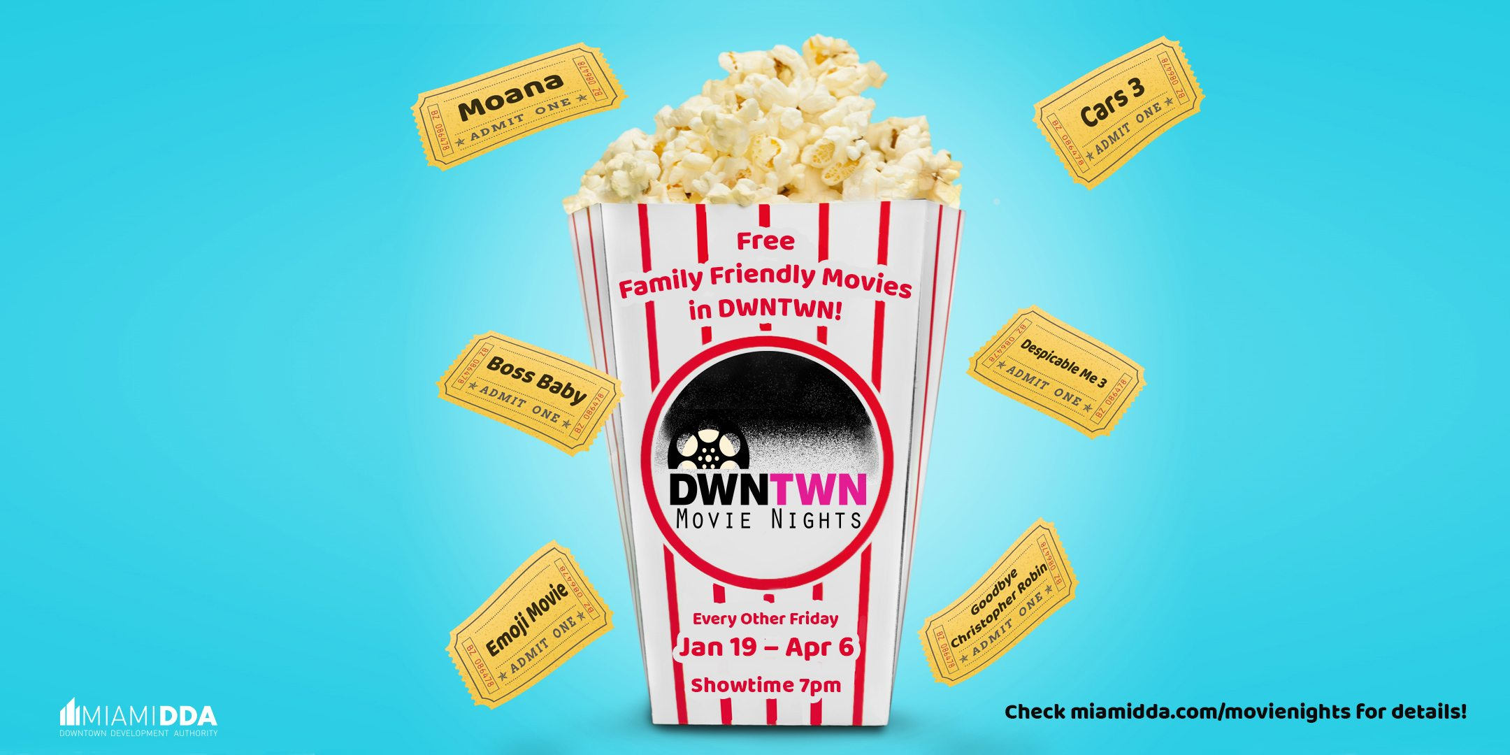 DWNTWN Movie Nights by Miami DDA