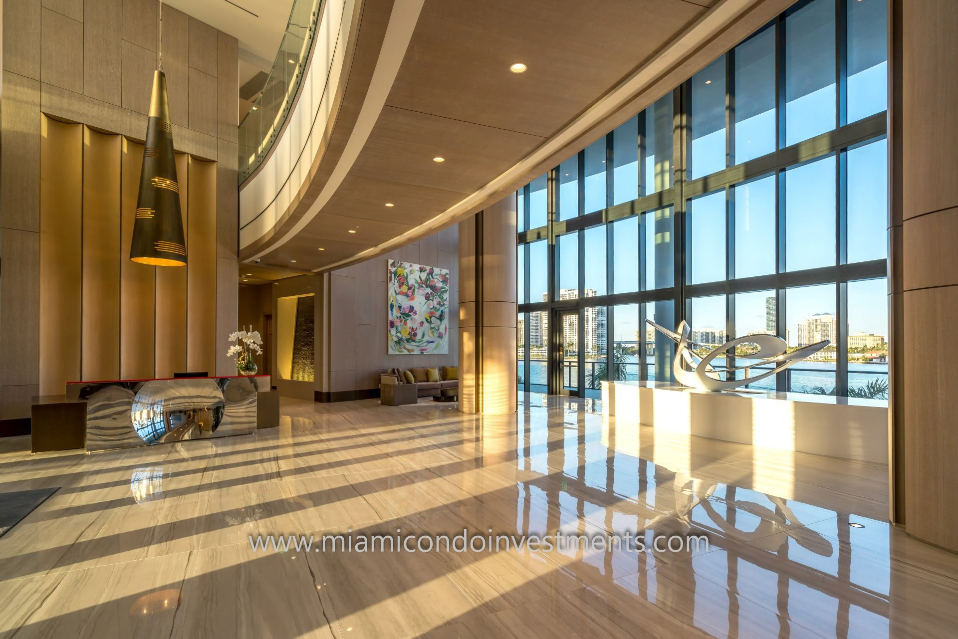 North Tower lobby at Prive Aventura