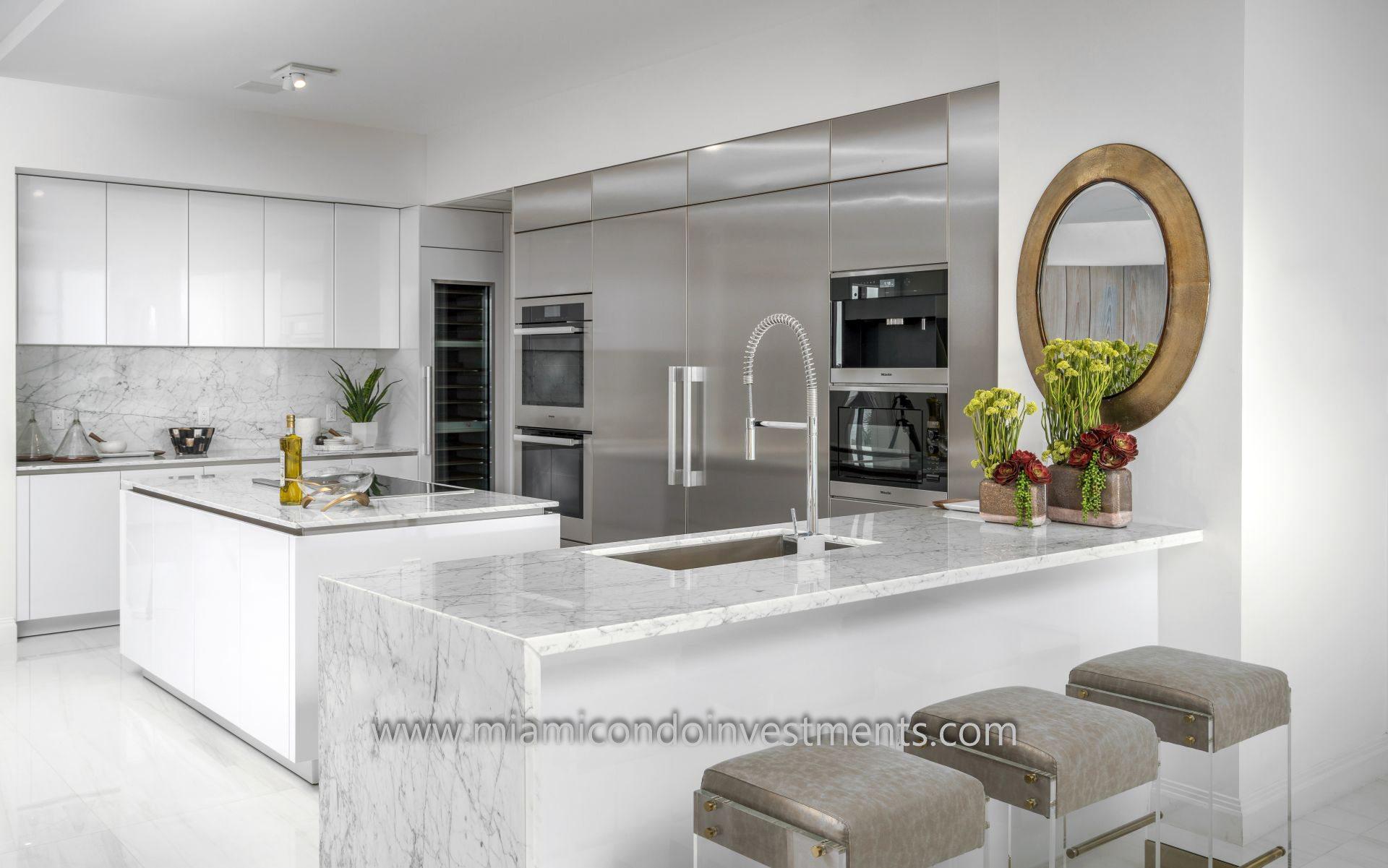 Prive condos kitchen