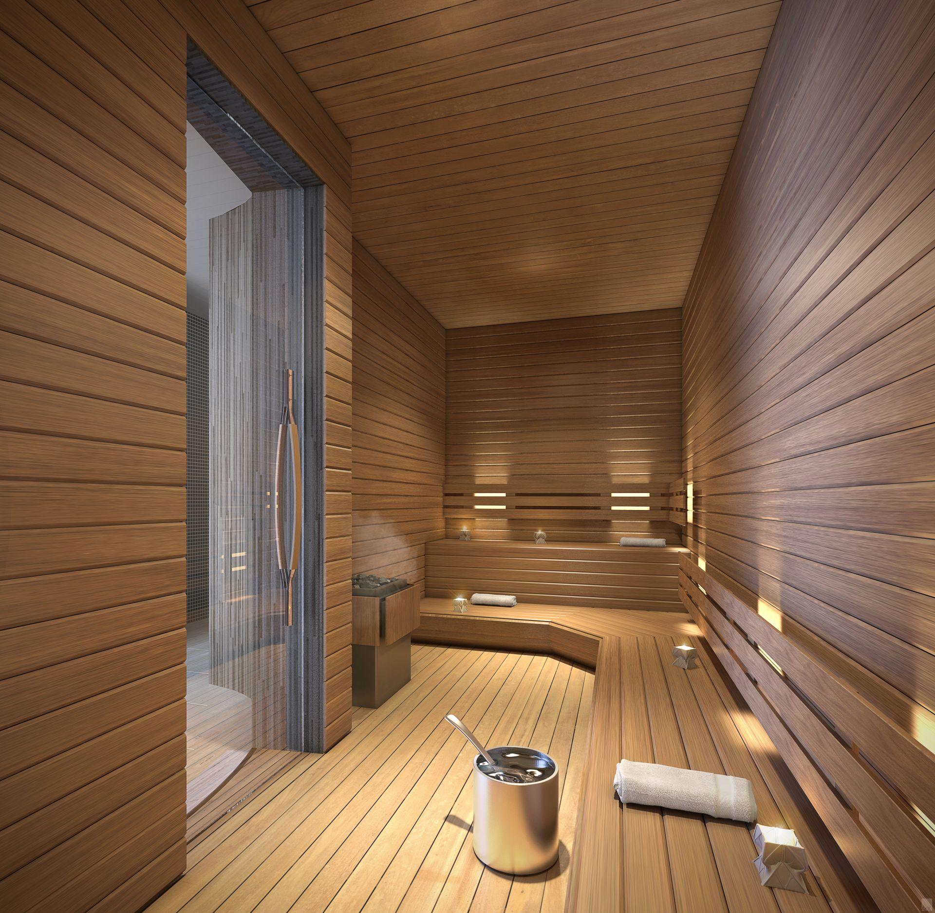 sauna at 1000 Museum