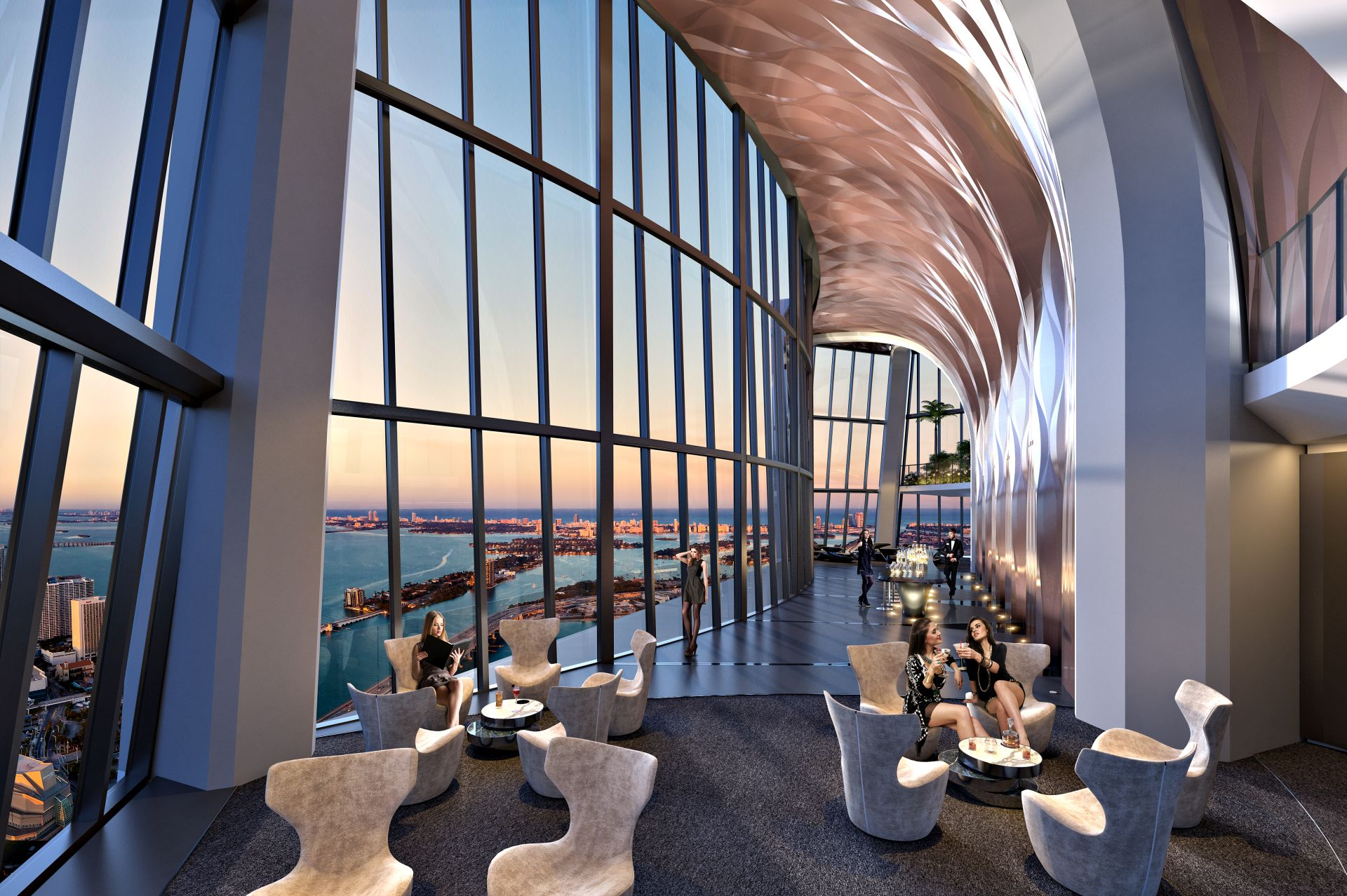 sky lounge at 1000 Museum