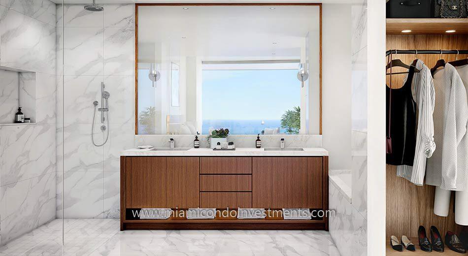 UNA Residences master bath