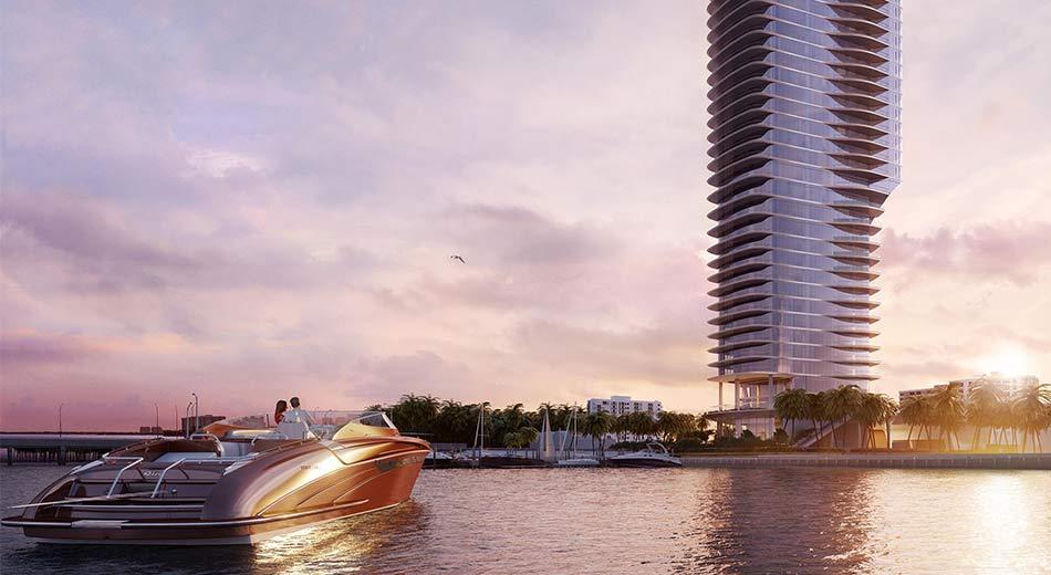 Una Residences bayfront development in Brickell