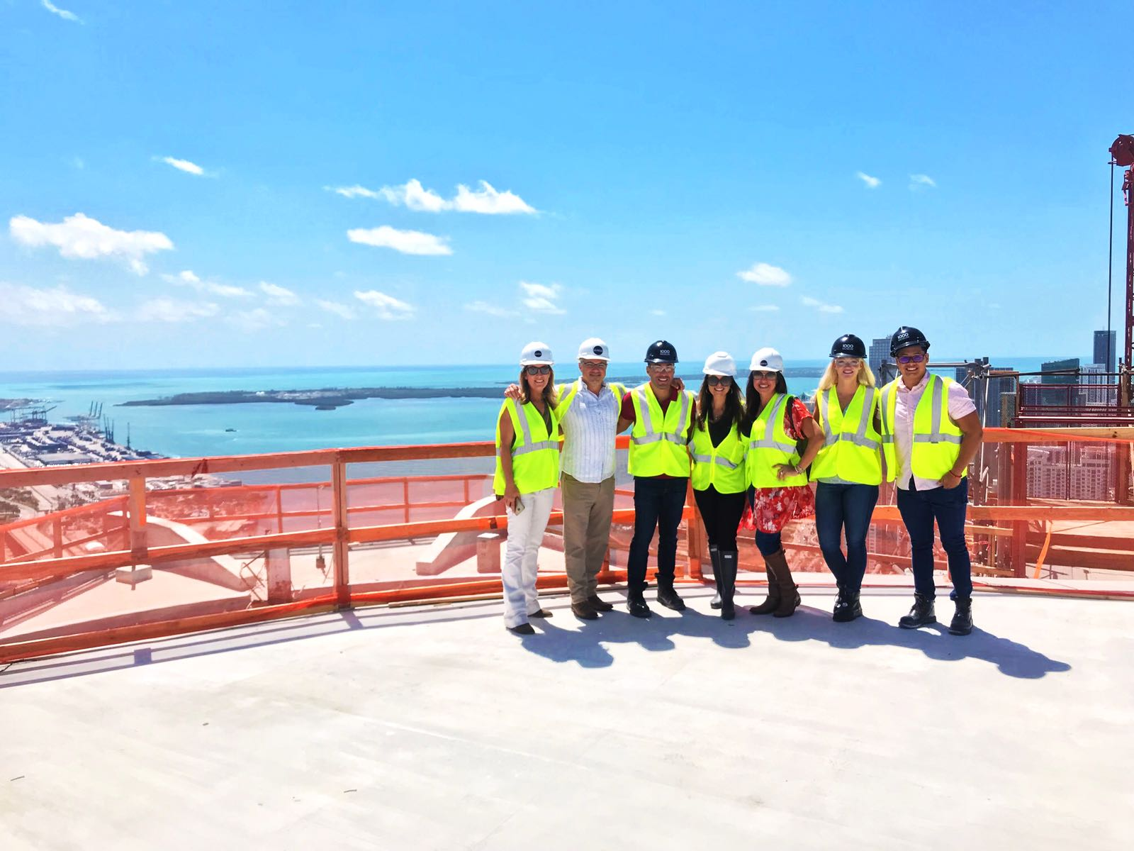 Miami Condo Investments Team visits One Thousand Museum helipad