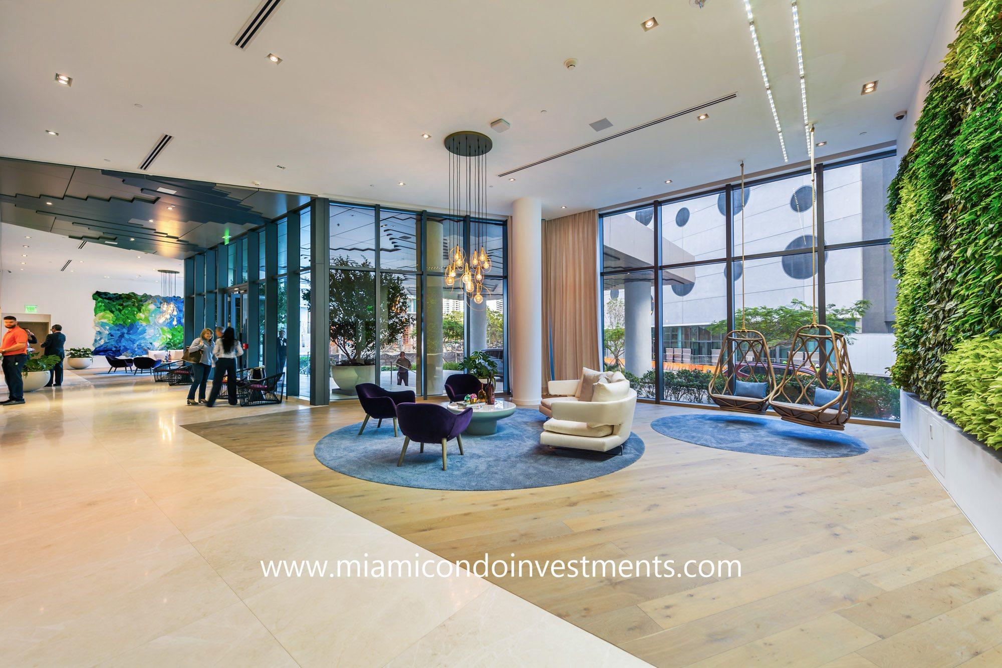 lobby at Paraiso Bay