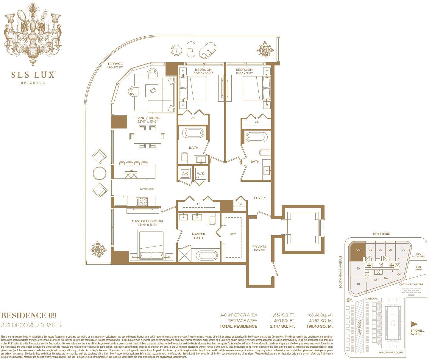 SLS Lux 09 line floor plan