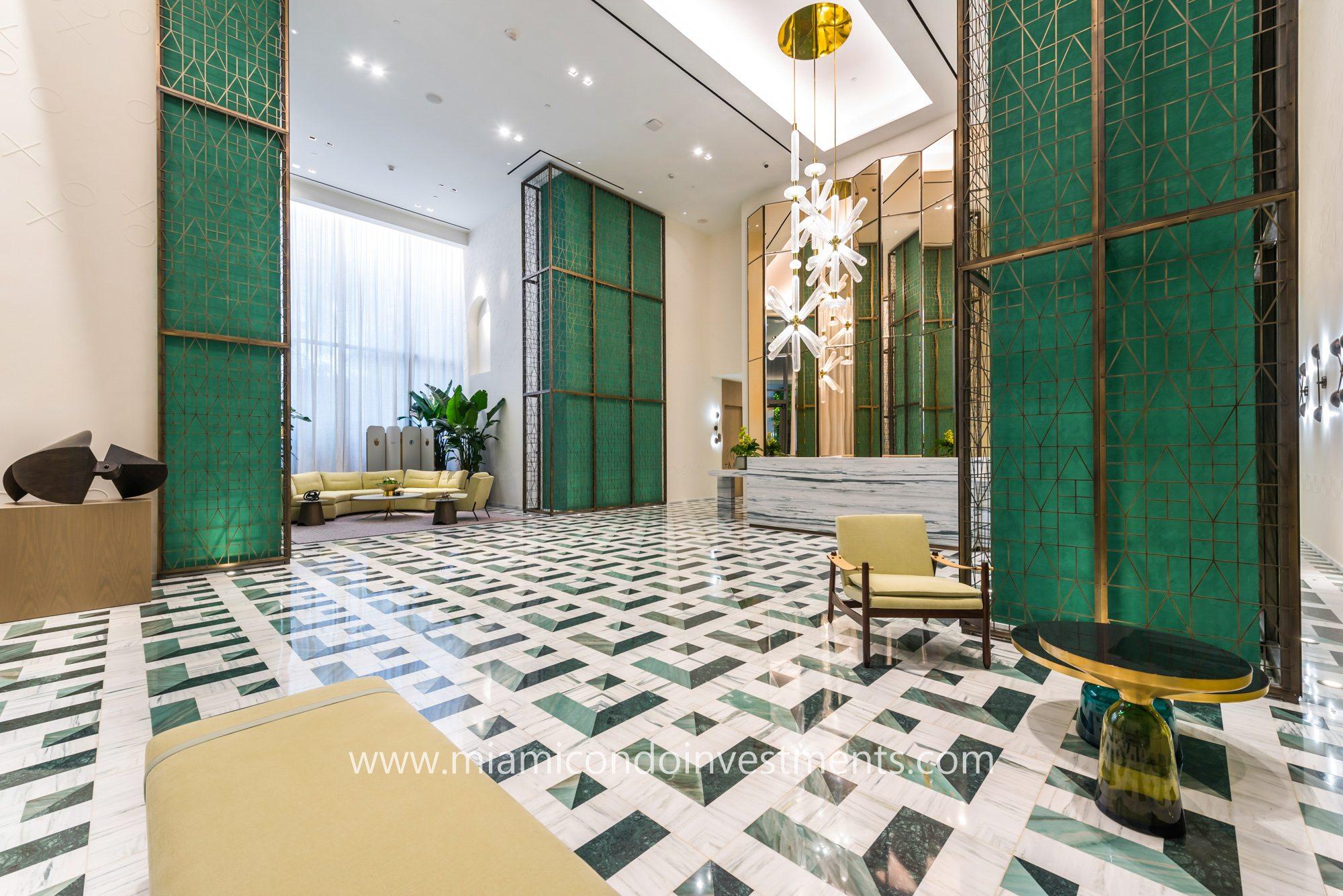 SLS Lux Brickell hotel lobby