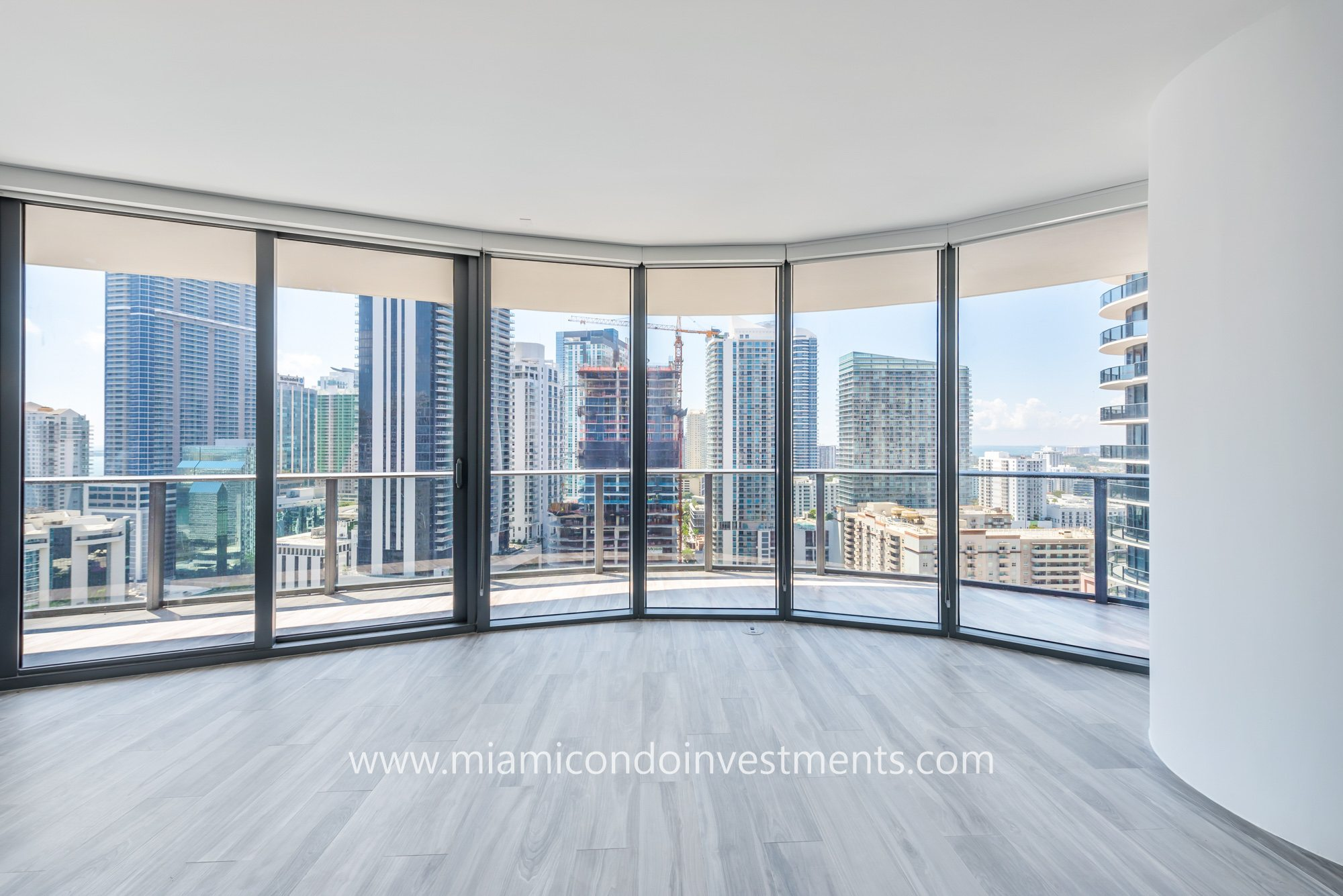 views from 3 bedroom unit at SLS Lux condos