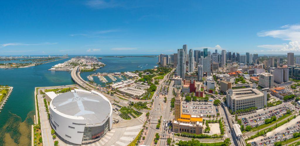 Downtown Miami skyline panorama