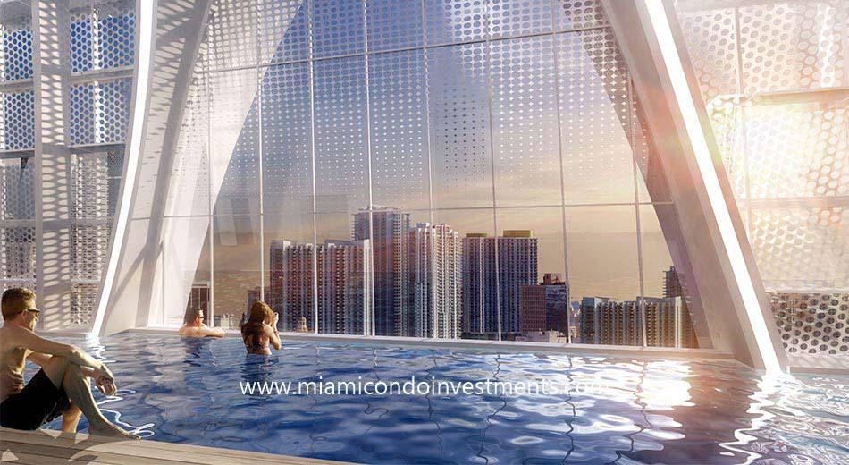 Okan Tower rooftop pool