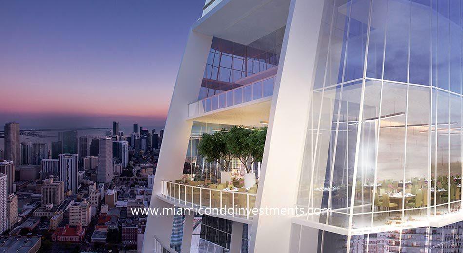 Okan Tower city skyline view