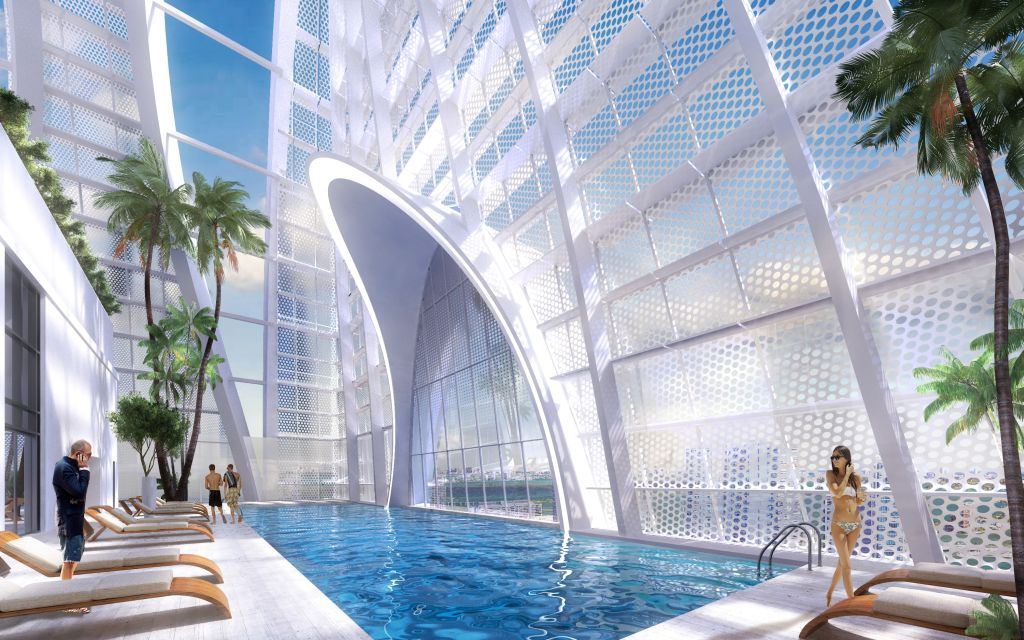 Okan Tower sky pool