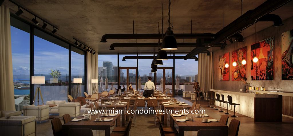 rooftop restaurant at Canvas Miami