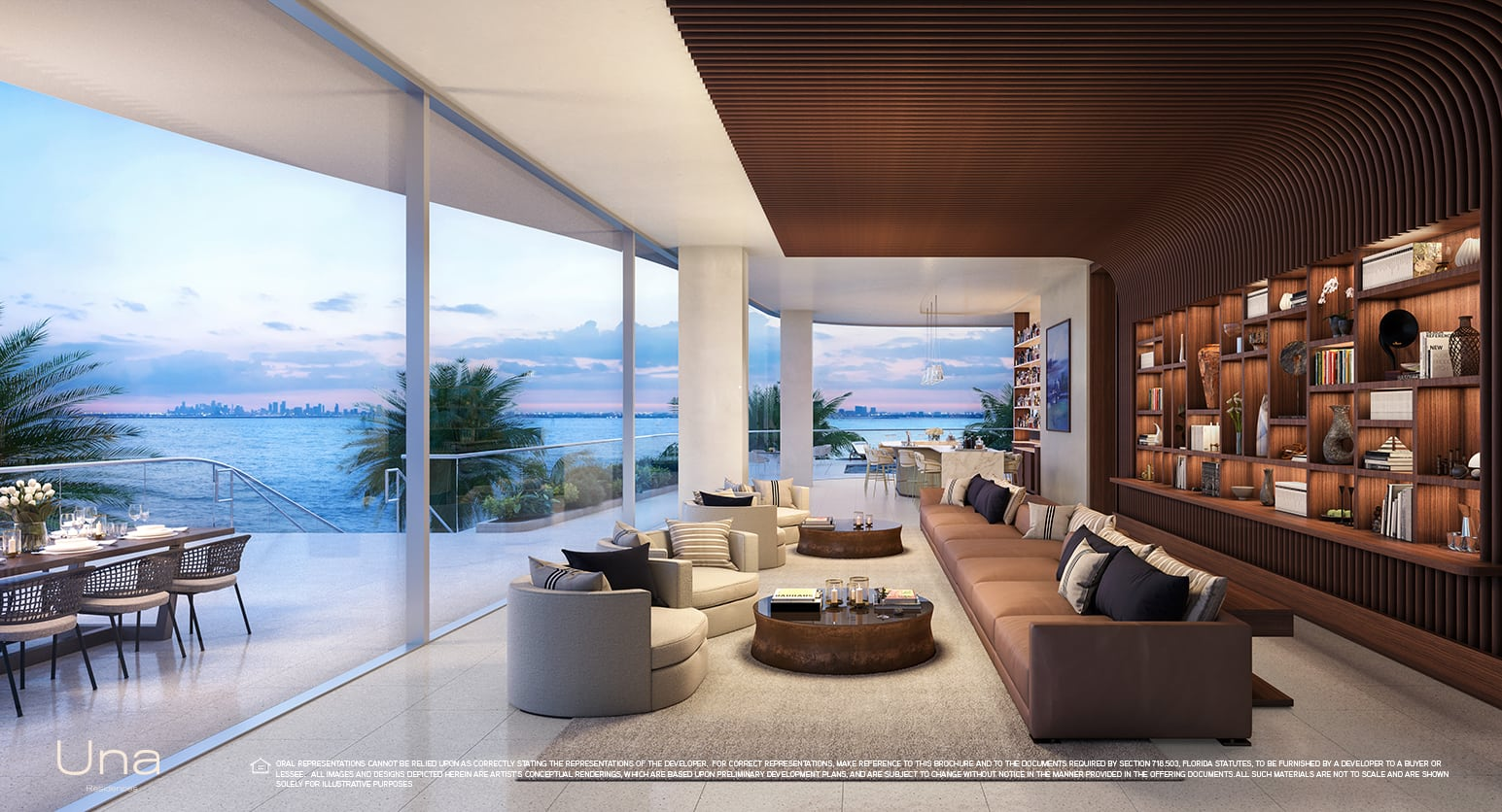 Una Residences level three lounge