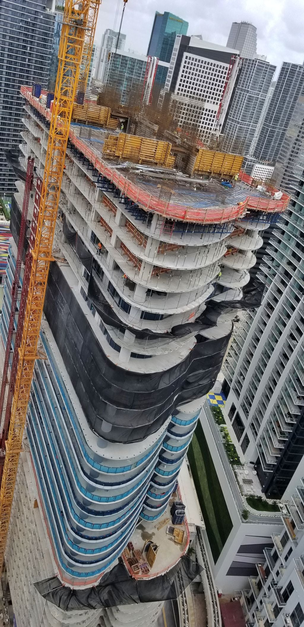 Brickell Flatiron construction as of May 22, 2018