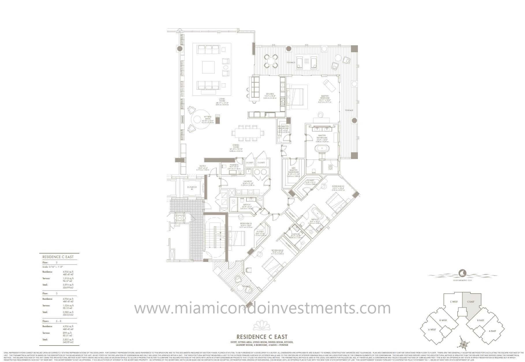 Palazzo Del Sol Unit 7083 floor plan