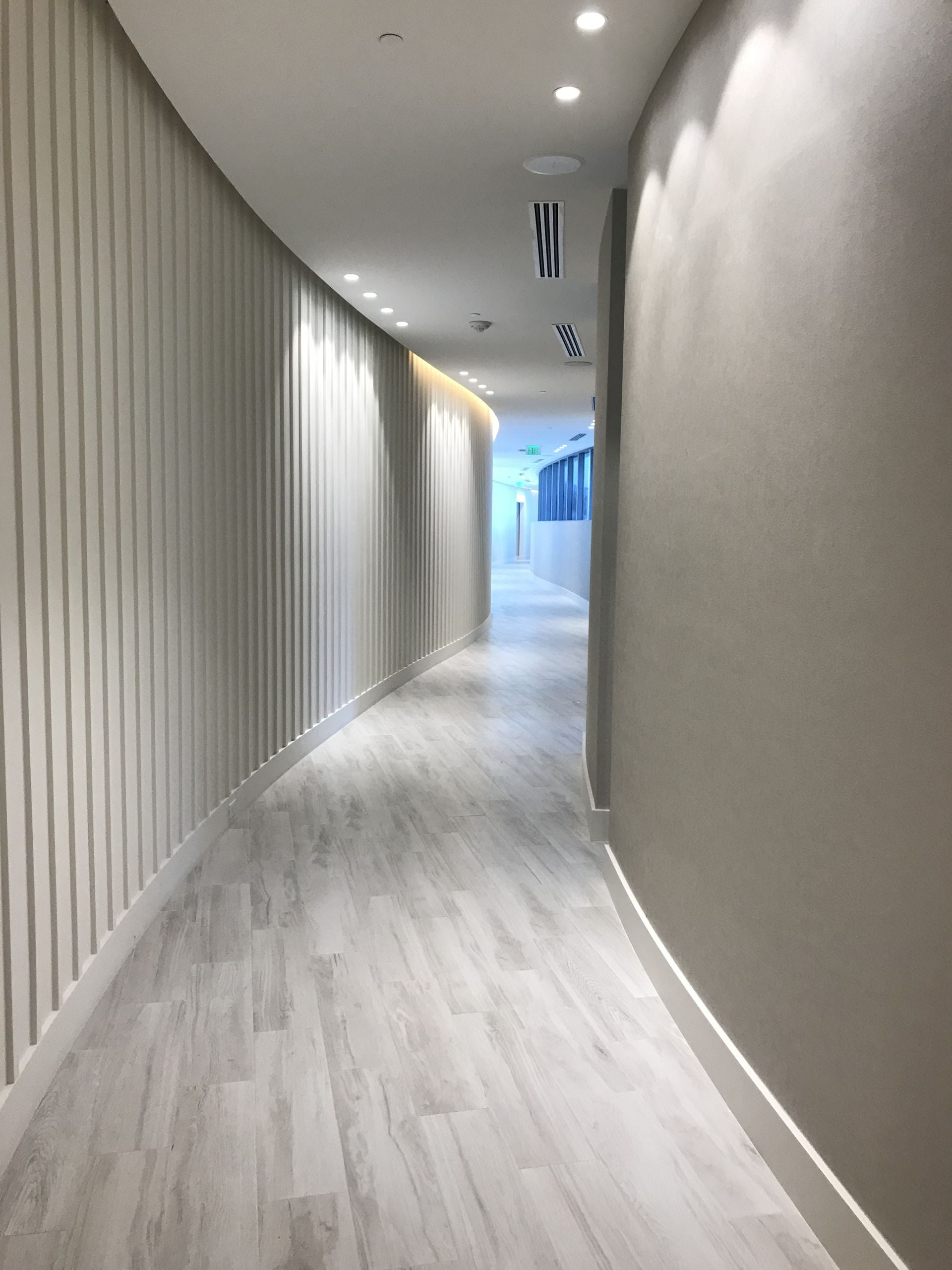 Park Grove hallway to amenities