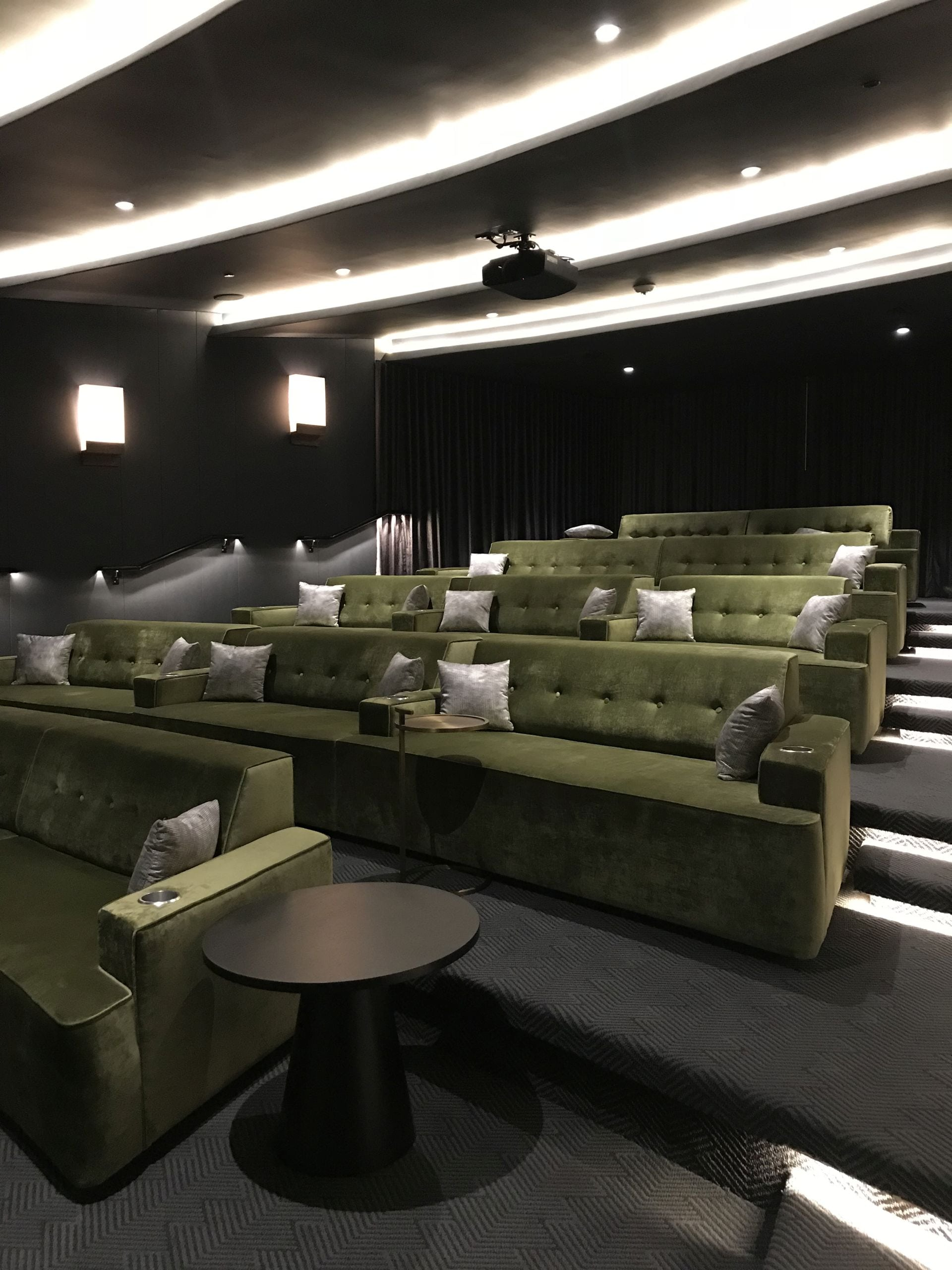 private screening room at Park Grove