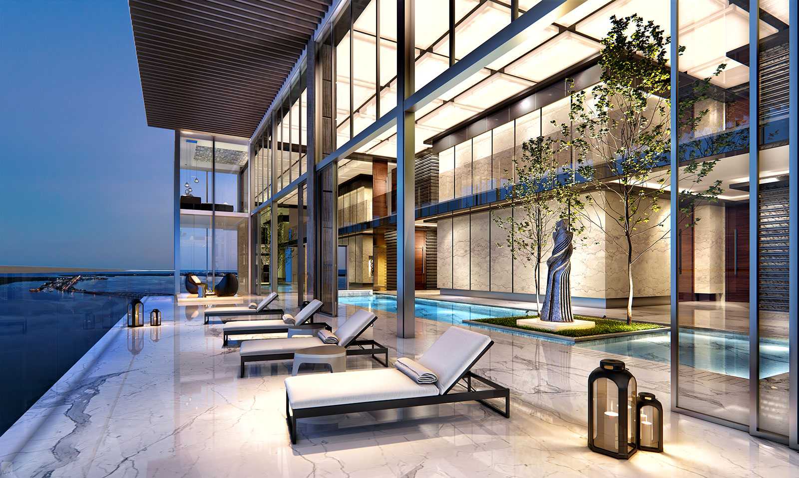 Echo Brickell penthouse indoor pool