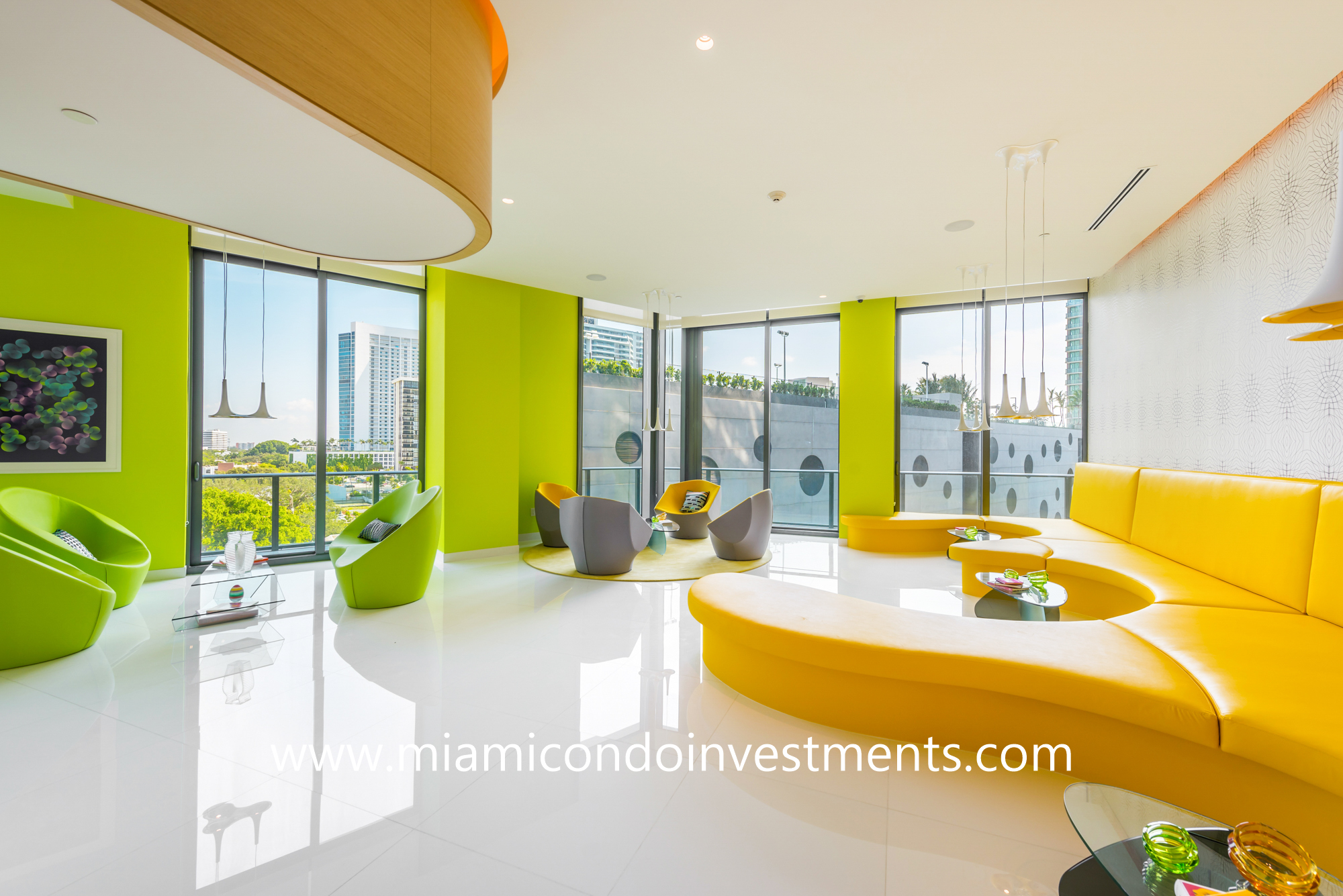 clubroom designed by Karim Rashid