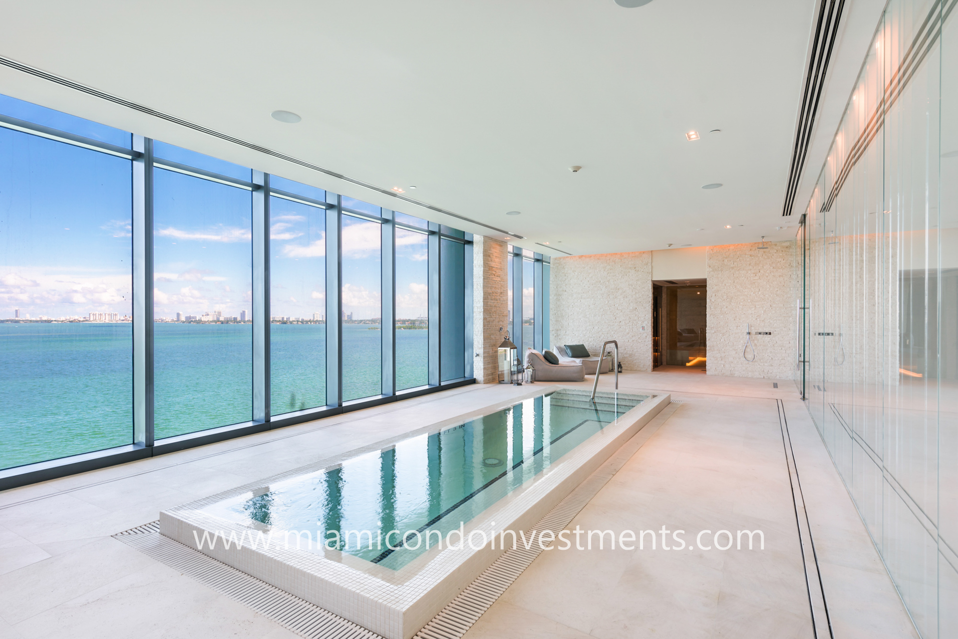 plunge pool with water view