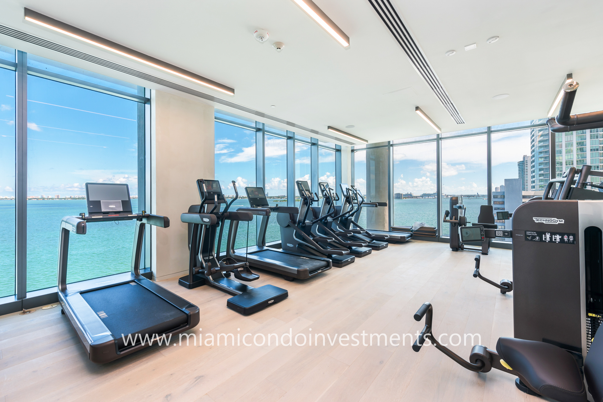 waterfront fitness center at One Paraiso